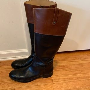 Gorgeous black/brown leather boots size 12 Enzo's!